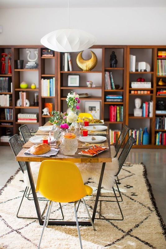 Yellow Accent Dining Room